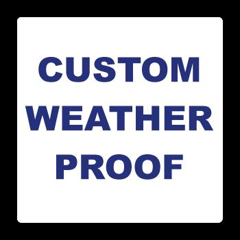 "1"" x 1"" Round Corner Square Custom Printed Weather Proof Stickers"