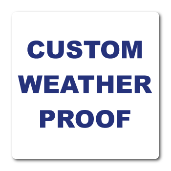 "1"" x 1"" Round Corner Square Custom Printed Weather Proof Stickers"