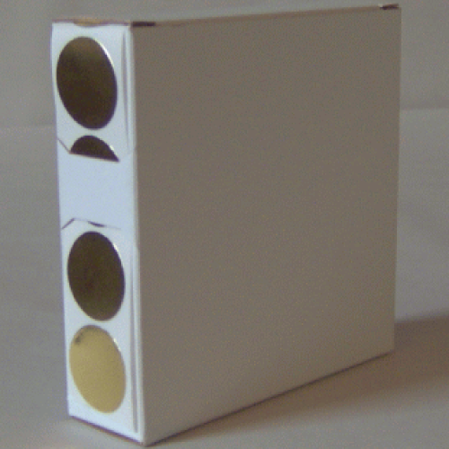 2X Cardboard Sticker Dispenser Box
