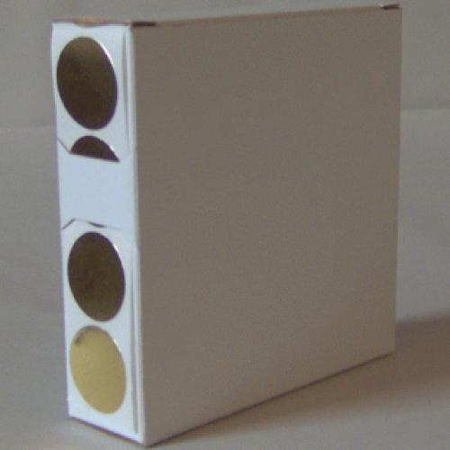 2X Cardboard Sticker Dispenser Box