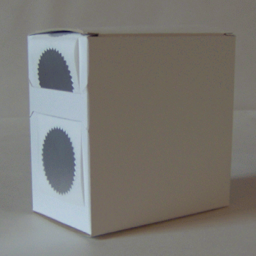 3X Cardboard Sticker Dispenser Box