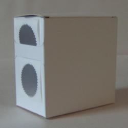 3X Cardboard Sticker Dispenser Box