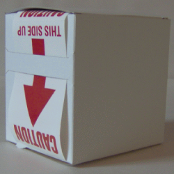 5X Cardboard Sticker Dispenser Box
