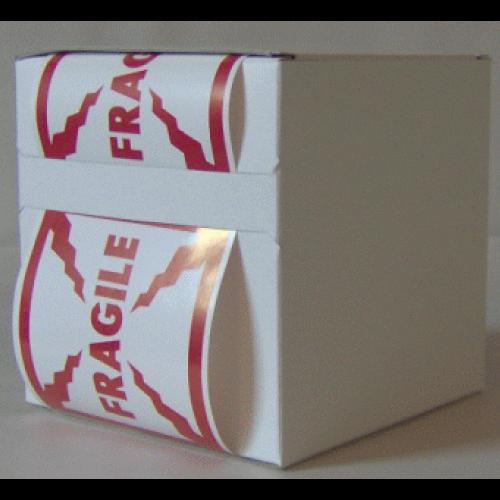 6X Cardboard Sticker Dispenser Box