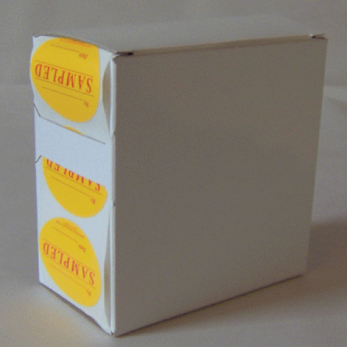 7X Cardboard Sticker Dispenser Box