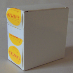 7X Cardboard Sticker Dispenser Box