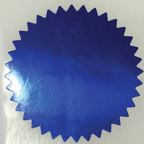 2 Inch Shiny Blue  Notary & Certificate Foil Seals Stickers