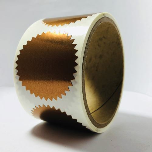2 Inch Shiny Bronze Notary & Certificate Foil Seals