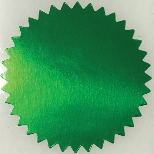 2 Inch Shiny Green Notary & Certificate Foil Seals
