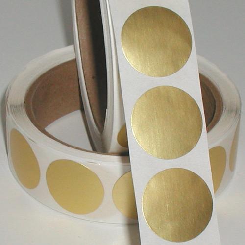 "1"" Dull Matte Gold Foil Circle Seals"