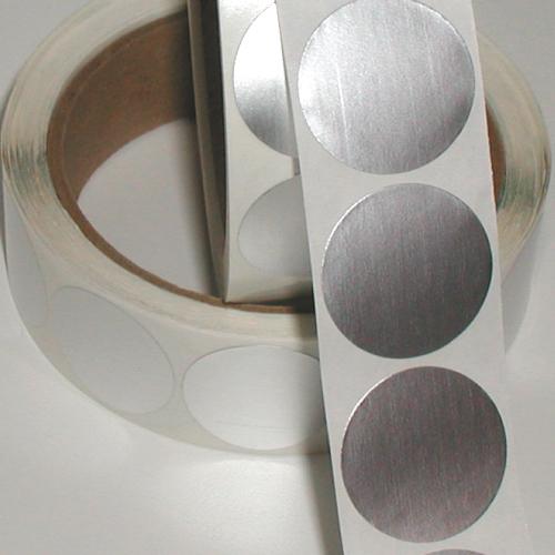 "0.75"" Dull Matte Silver Foil Circle Seals"