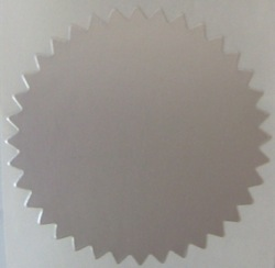 "2"" Dull Matte Silver Serrated Edge Foil Circle Stickers"
