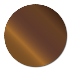 """2"""" Bright Shiny Bronze Foil Circle Seals"""