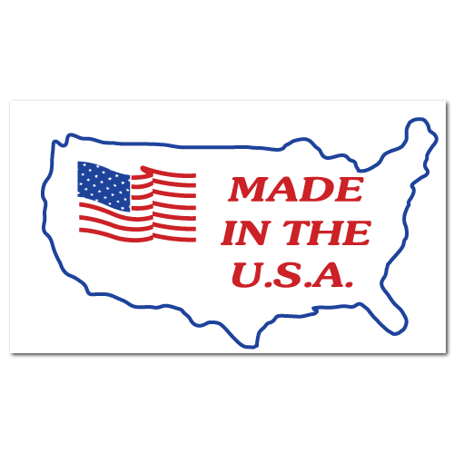 5 x 3 Made in the U.S.A., Roll of 100 Stickers