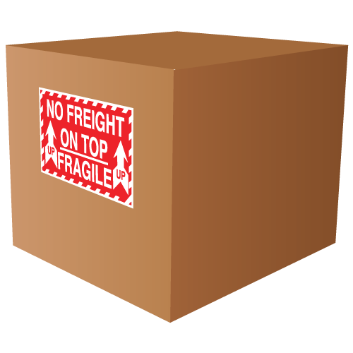 Fragile No Freight On Top Labels