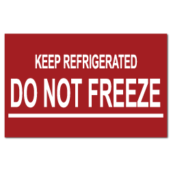 Keep Refrigerated Do Not Freeze Stickers