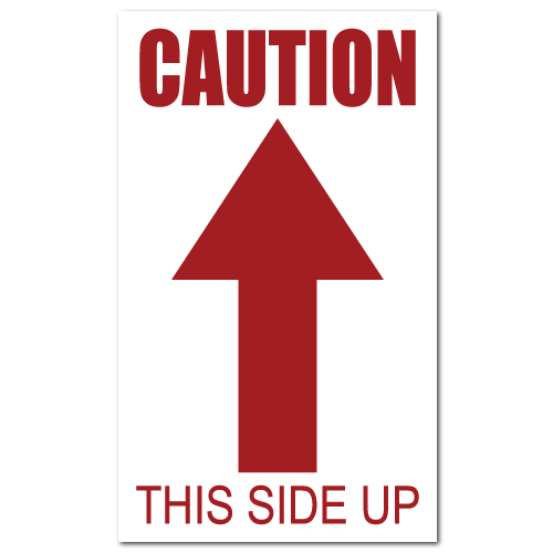 Caution This Side Up Stickers