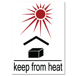 Keep From Heat Stickers