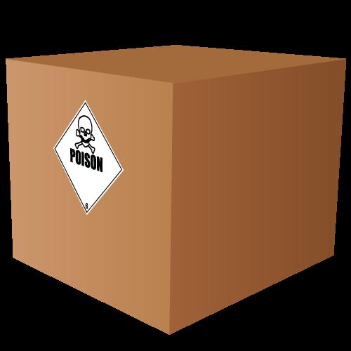 HAZMAT Class 6 Poison Hazardous Materials Labels
