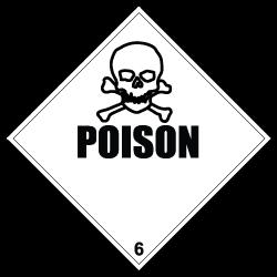HAZMAT Class 6 Poison Hazardous Materials Stickers