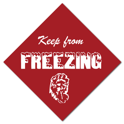 Keep From Freezing Warning Stickers