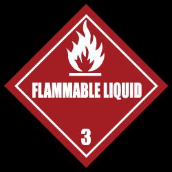 HAZMAT Class 3 Flammable Liquid Stickers