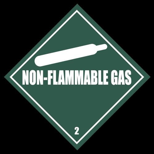 HAZMAT Class 2 Non-Flammable Gas Stickers