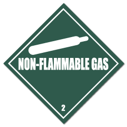 HAZMAT Class 2 Non-Flammable Gas Stickers