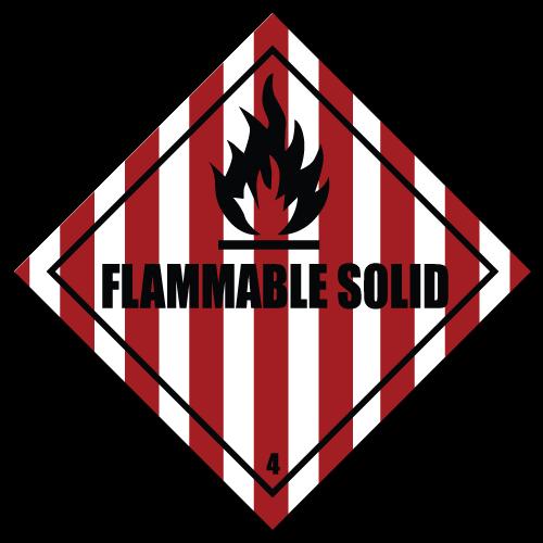 HAZMAT Class 4 Flammable Solid Hazardous Materials Stickers