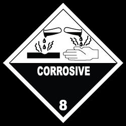 HAZMAT Class 8 Corrosive Hazardous Materials Stickers