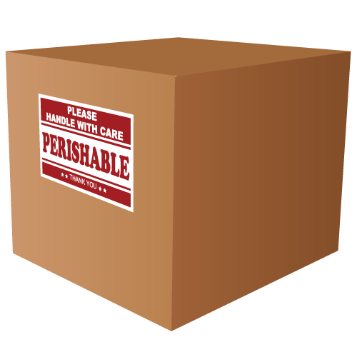 Perishable Please Handle with Care Labels