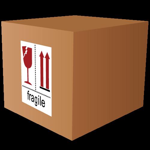 Fragile Broken Glass and Arrow Labels