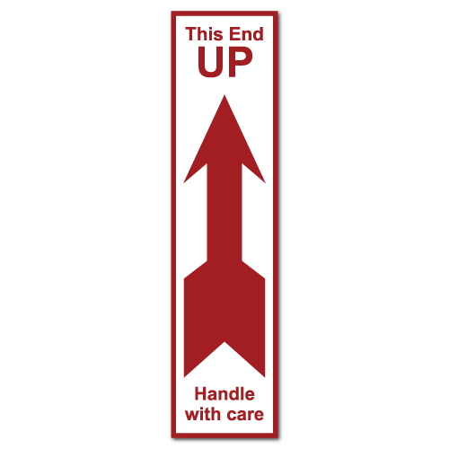 This End Up, Handle with Care Stickers