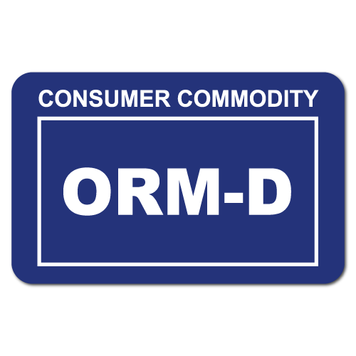 Consumer Commodity ORM-D Stickers