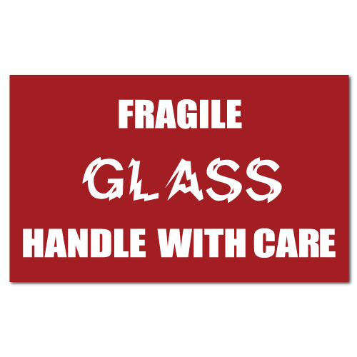 Standard Fragile Glass Handle With Care Stickers