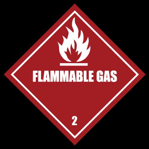 HAZMAT Class 2 Flammable Gas Hazardous Materials Stickers