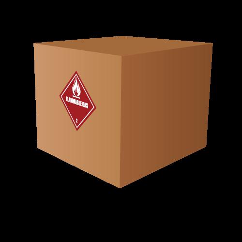 HAZMAT Class 2 Flammable Gas Hazardous Materials Labels