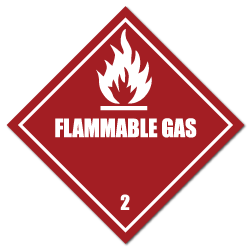HAZMAT Class 2 Flammable Gas Hazardous Materials Stickers