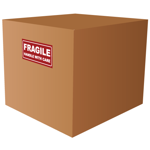 Small Fragile Handle With Care Rectangle Labels