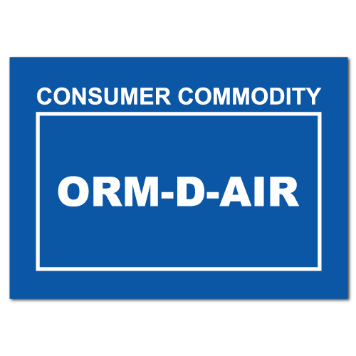 Consumer Commodity ORM-D-AIR Stickers