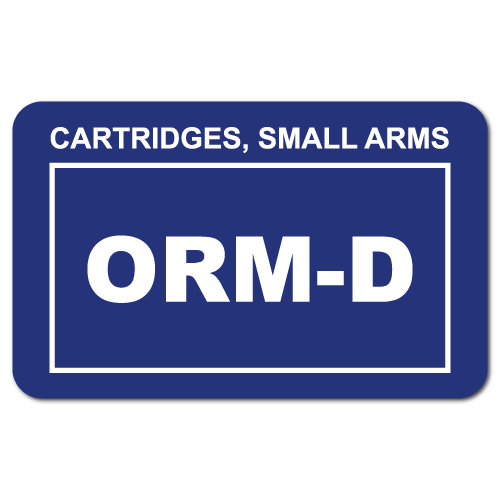 Cartridges Small Arms ORM-D Stickers