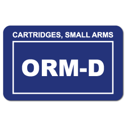 ORM-D Labels Consumer Commodity 1.5 x 2.375 Inch 500 Adhesive Stickers