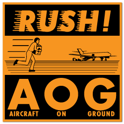 RUSH A.O.G. Stickers