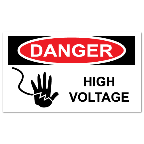 Danger High Voltage Stickers
