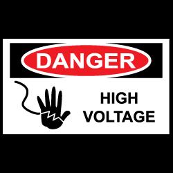 Danger High Voltage Stickers