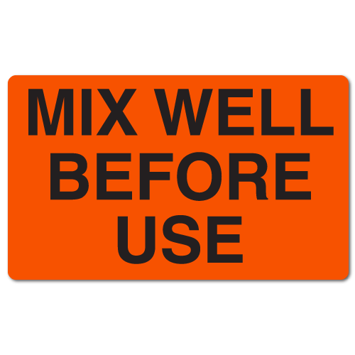 Mix Well Before Use Stickers