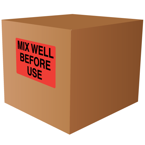 Mix Well Before Use Labels