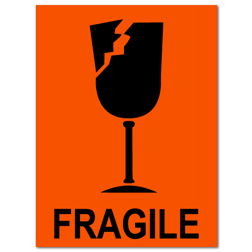 Fragile Broken Glass Stickers