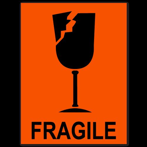 Fragile Broken Glass Stickers
