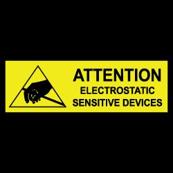 "1"" x 3"" Attention Electrostatic Sensitive Labels"